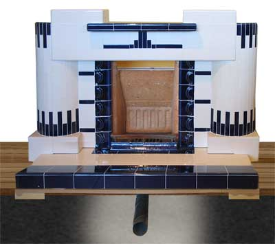 Baxi Fire 4 Piece Brick Set WITH EXTENDED SIDE CHEEKS